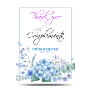 India Printer Compliment Cards Printing